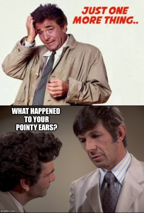 WHAT HAPPENED TO YOUR POINTY EARS? | made w/ Imgflip meme maker
