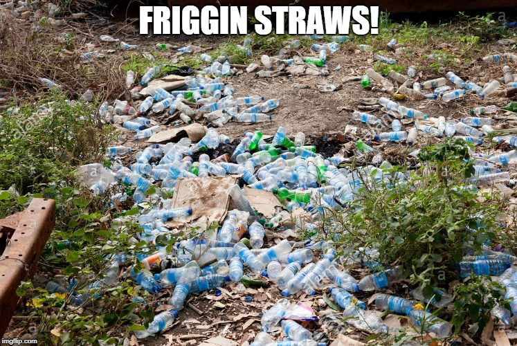 FRIGGIN STRAWS! | image tagged in straws,california,litter,plastic | made w/ Imgflip meme maker