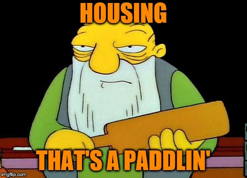 That's a paddlin' Meme | HOUSING THAT'S A PADDLIN' | image tagged in memes,that's a paddlin' | made w/ Imgflip meme maker
