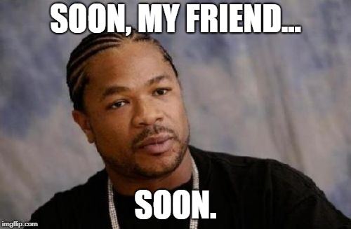 Serious Xzibit |  SOON, MY FRIEND... SOON. | image tagged in memes,serious xzibit | made w/ Imgflip meme maker