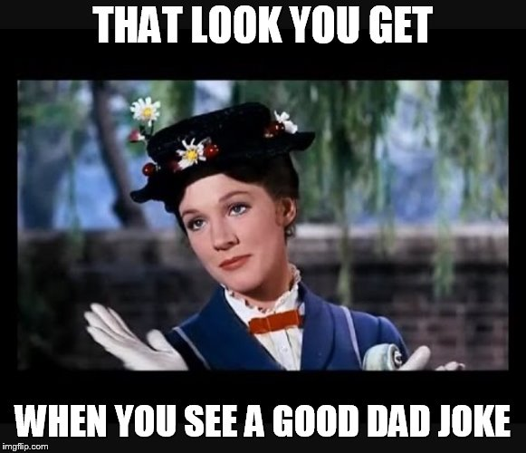 Mary Poppins slow clap | THAT LOOK YOU GET WHEN YOU SEE A GOOD DAD JOKE | image tagged in mary poppins slow clap,memes,that look,dad joke | made w/ Imgflip meme maker