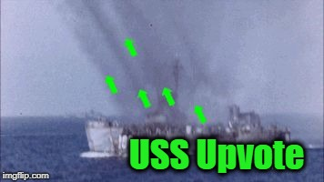 USS Upvote | image tagged in upvote | made w/ Imgflip meme maker