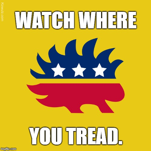 Libertarian: Watch Where You Tread | WATCH WHERE YOU TREAD. | image tagged in gadsden flag,libertarian,freedom,reason,liberty | made w/ Imgflip meme maker