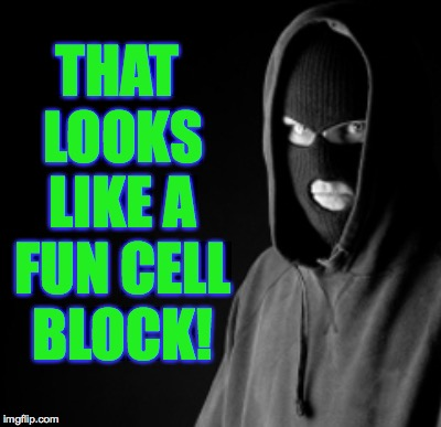 THAT LOOKS LIKE A FUN CELL BLOCK! | made w/ Imgflip meme maker