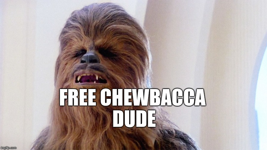 haha :D |  FREE CHEWBACCA DUDE | image tagged in chewbacca,memes,avocado,fresh | made w/ Imgflip meme maker