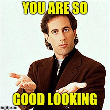 seinfeld | YOU ARE SO GOOD LOOKING | image tagged in seinfeld | made w/ Imgflip meme maker