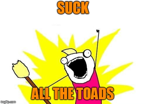 X All The Y Meme | SUCK ALL THE TOADS | image tagged in memes,x all the y | made w/ Imgflip meme maker
