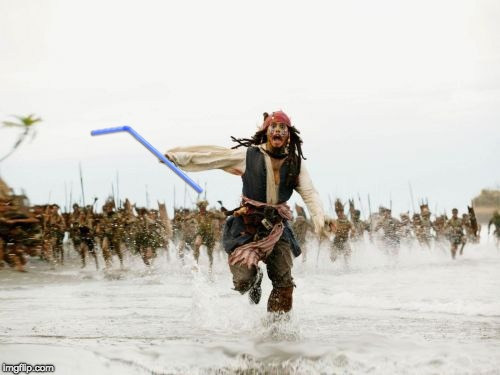 Jack Sparrow Being Chased Meme | image tagged in memes,jack sparrow being chased | made w/ Imgflip meme maker