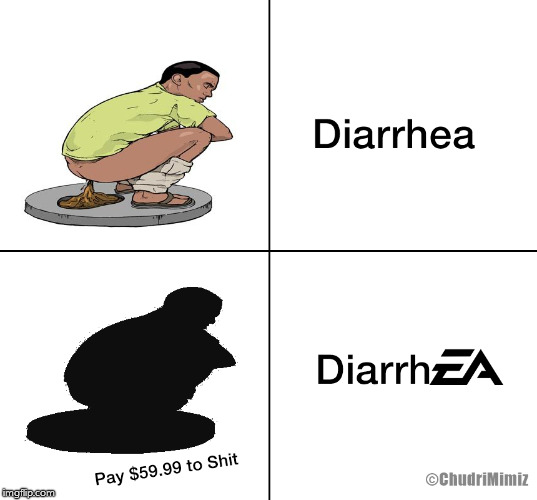 DiarrhEA | image tagged in diarrhea | made w/ Imgflip meme maker