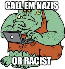 CALL EM NAZIS OR RACIST | image tagged in trolls | made w/ Imgflip meme maker