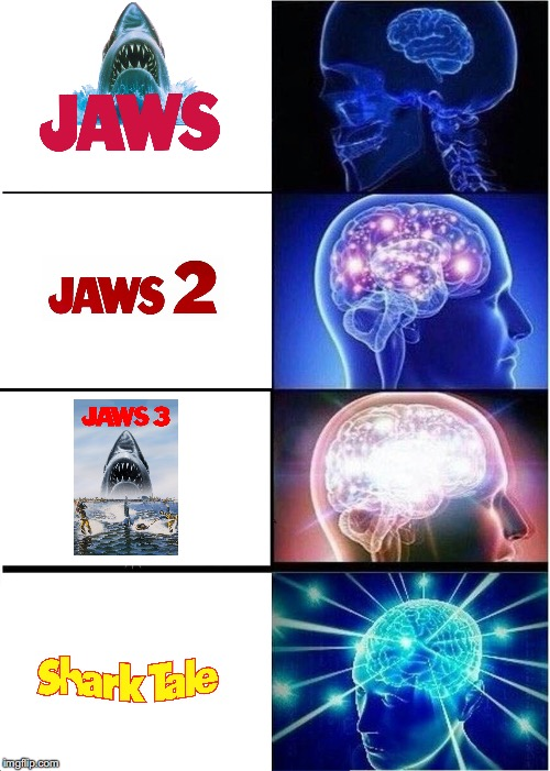 Expanding Sharks | image tagged in memes,expanding brain | made w/ Imgflip meme maker