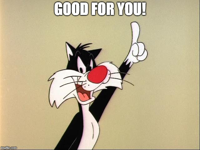 sylvester | GOOD FOR YOU! | image tagged in sylvester | made w/ Imgflip meme maker