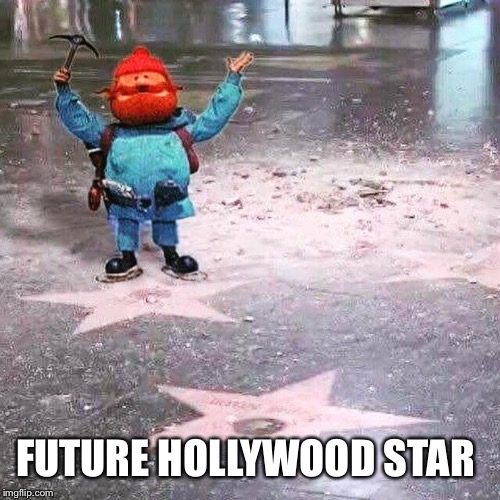 FUTURE HOLLYWOOD STAR | image tagged in yukon cornelius - making the hollywood walk of fame great again | made w/ Imgflip meme maker