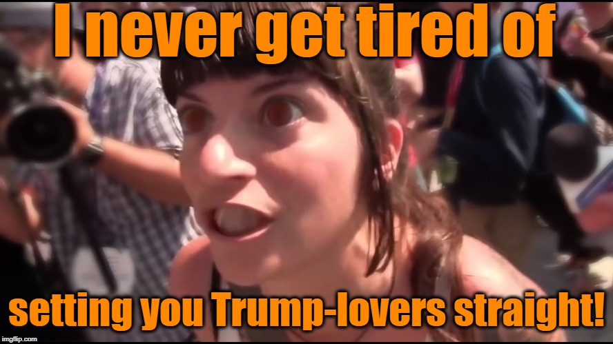 I never get tired of setting you Trump-lovers straight! | made w/ Imgflip meme maker