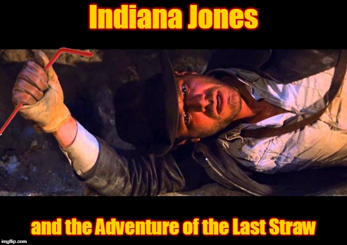 When They Become Such a Relic that You Have to Get the World's Most Famous Archaeologist to Get One!!! | Indiana Jones and the Adventure of the Last Straw | image tagged in indiana jones why'd it have to be snakes,memes,straw,the straw crisis of 2018,archaeology,trends | made w/ Imgflip meme maker