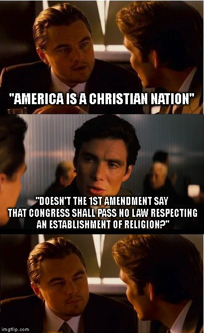 "We Have Never Been A Christian Nation | ""AMERICA IS A CHRISTIAN NATION"" ""DOESN'T THE 1ST AMENDMENT SAY THAT CONGRESS SHALL PASS NO LAW RESPECTING AN ESTABLISHMENT OF RELIGION?"" 