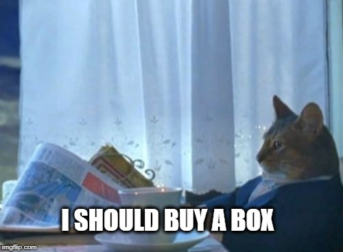I Should Buy A Boat Cat Meme | I SHOULD BUY A BOX | image tagged in memes,i should buy a boat cat | made w/ Imgflip meme maker