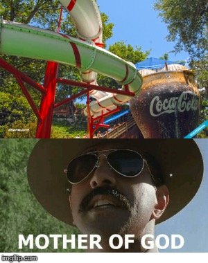 Soda Straws eh? | image tagged in super troopers,mother of god,straws,coke | made w/ Imgflip meme maker