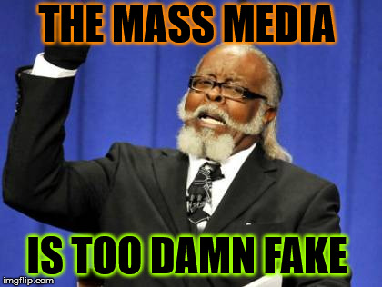 Too Damn High Meme | THE MASS MEDIA IS TOO DAMN FAKE | image tagged in memes,too damn high | made w/ Imgflip meme maker
