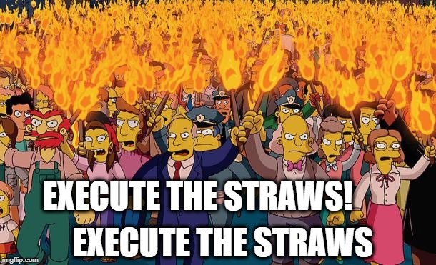 mob | EXECUTE THE STRAWS EXECUTE THE STRAWS! | image tagged in mob | made w/ Imgflip meme maker