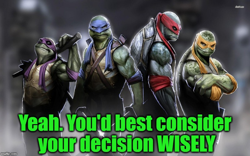 Yeah. You'd best consider your decision WISELY | made w/ Imgflip meme maker