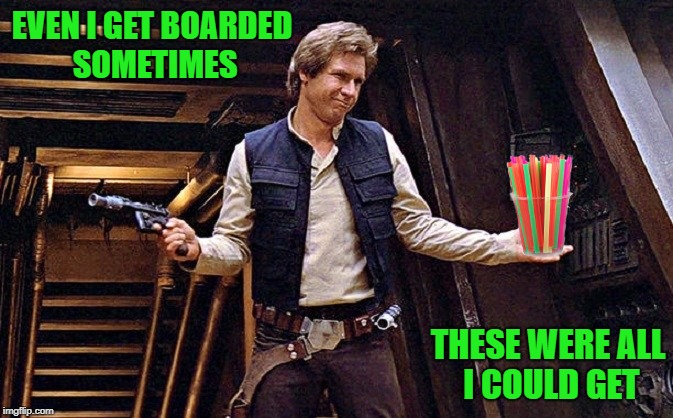 "Scene from ""Straw Wars"" 