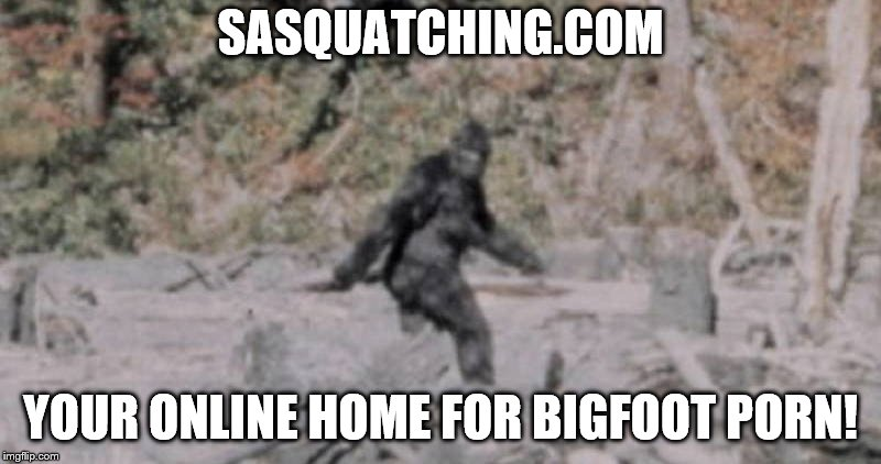 Better than yetibetty.com! | SASQUATCHING.COM YOUR ONLINE HOME FOR BIGFOOT PORN! | image tagged in memes,sasquatch,bigfoot porn,bigfoot,porn | made w/ Imgflip meme maker
