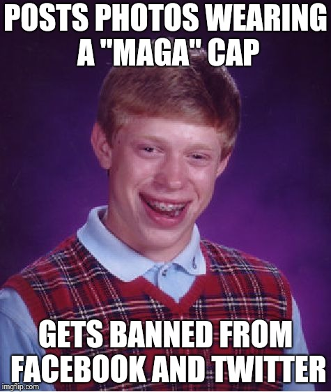 "How do we deal with Anti-social media ? | POSTS PHOTOS WEARING A ""MAGA"" CAP GETS BANNED FROM FACEBOOK AND TWITTER 
