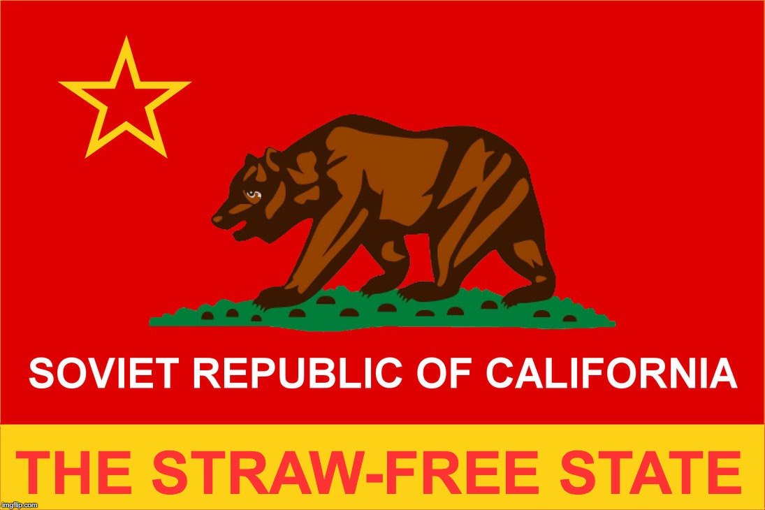 THE STRAW-FREE STATE | image tagged in plastic straws | made w/ Imgflip meme maker