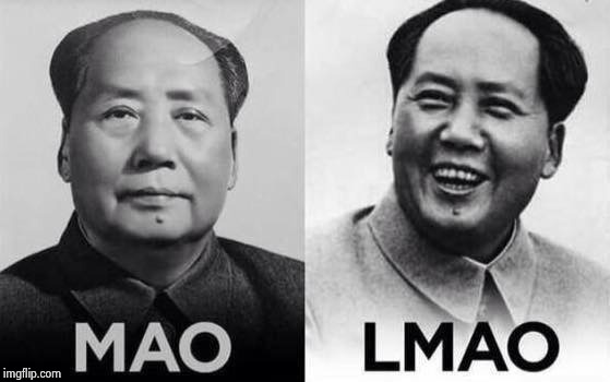 Mao/Lmao | . | image tagged in mao/lmao | made w/ Imgflip meme maker