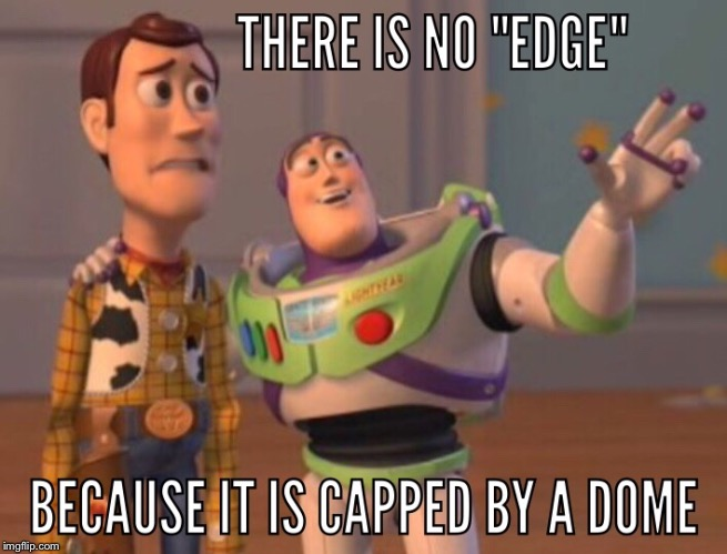 Put A Lid On That Edge | image tagged in flat earth | made w/ Imgflip meme maker