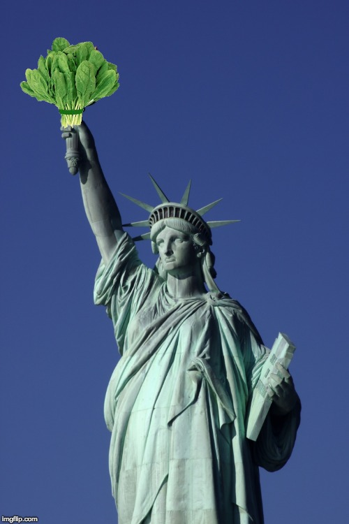 Still gotta stay healthy | image tagged in statue of liberty | made w/ Imgflip meme maker