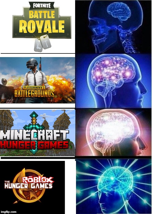 Expanding Brain Meme | image tagged in memes,expanding brain,fortnite,pubg,minecraft,roblox | made w/ Imgflip meme maker
