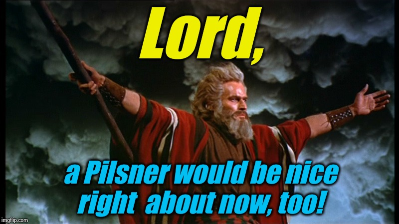 Moses | Lord, a Pilsner would be nice right  about now, too! | image tagged in moses | made w/ Imgflip meme maker