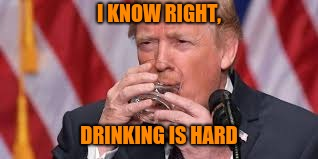 I KNOW RIGHT, DRINKING IS HARD | made w/ Imgflip meme maker