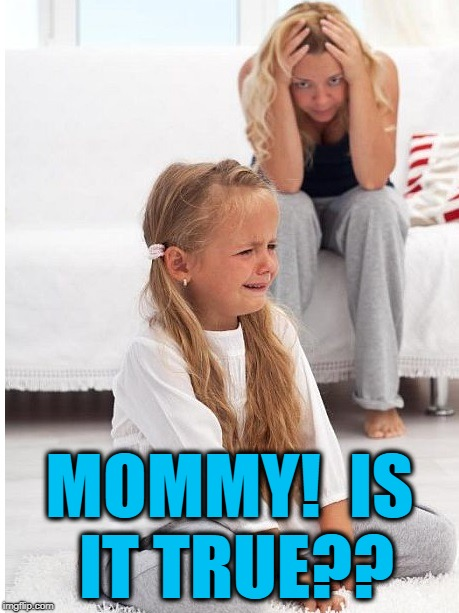 whine | MOMMY!  IS IT TRUE?? | image tagged in whine | made w/ Imgflip meme maker