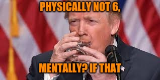PHYSICALLY NOT 6, MENTALLY? IF THAT | made w/ Imgflip meme maker