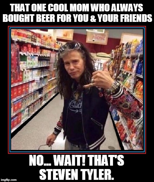 Time is a Cruel Harbinger of Reality | THAT ONE COOL MOM WHO ALWAYS BOUGHT BEER FOR YOU & YOUR FRIENDS NO... WAIT! THAT'S STEVEN TYLER. | image tagged in arrowsmith,vince vance,steven tyler,underage drinking,cool moms,teenagers | made w/ Imgflip meme maker