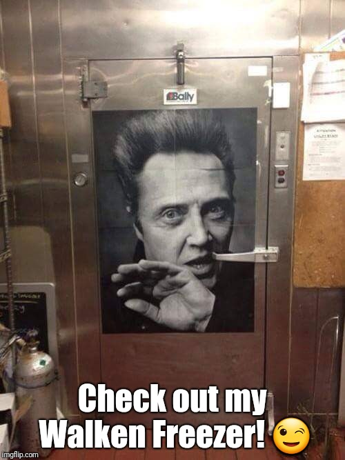 Walken Freezer |  Check out my Walken Freezer! 😉 | image tagged in christopher walken,freezer | made w/ Imgflip meme maker