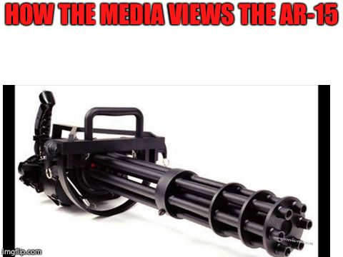 Truth. | HOW THE MEDIA VIEWS THE AR-15 | image tagged in gun control | made w/ Imgflip meme maker
