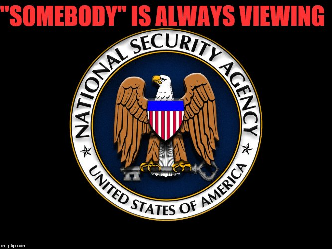 "nsa | ""SOMEBODY"" IS ALWAYS VIEWING 