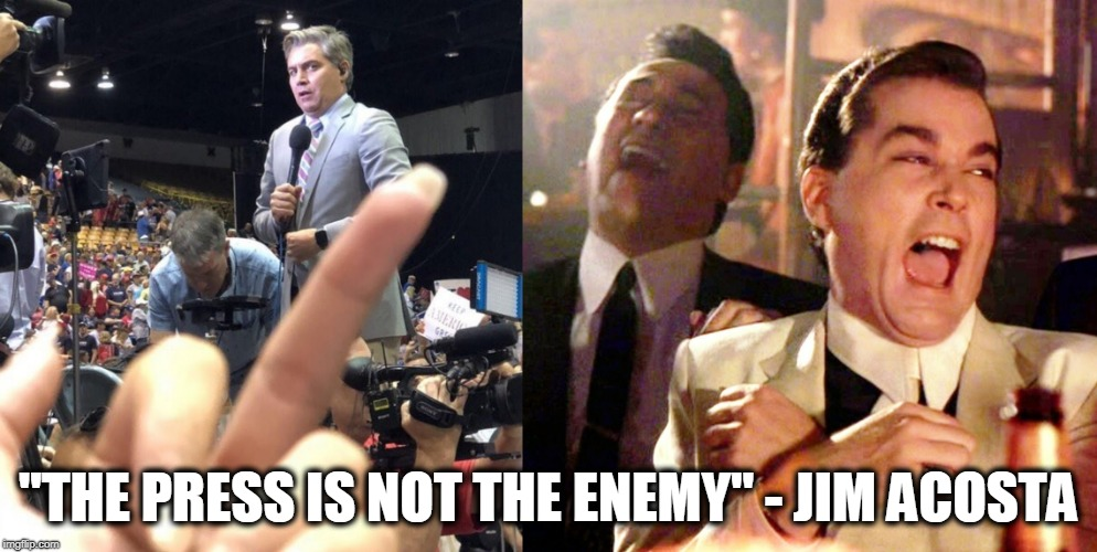 "CNN Sucks | ""THE PRESS IS NOT THE ENEMY"" - JIM ACOSTA 