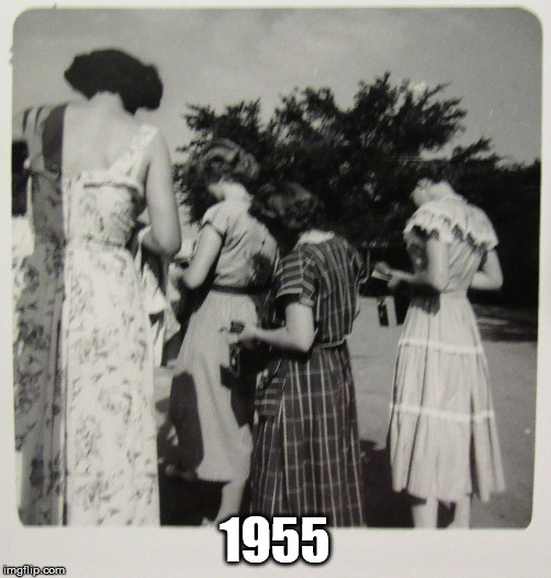 1950's Distracted Women | 1955 | image tagged in 1950's distracted women | made w/ Imgflip meme maker