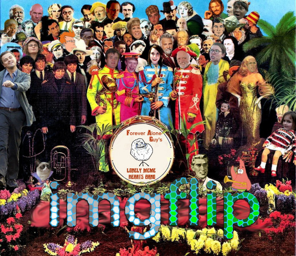 image tagged in bad album cover threw a few easter eggs in for you,bad album art,sgt pepper's lonely hearts club band parody | made w/ Imgflip meme maker