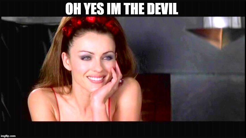 Condescending devil | OH YES IM THE DEVIL | image tagged in condescending devil | made w/ Imgflip meme maker