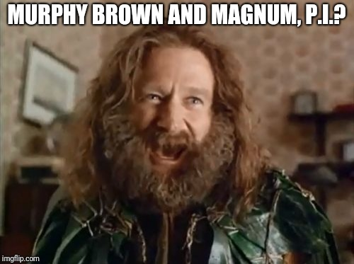 What Year Is It Meme | MURPHY BROWN AND MAGNUM, P.I.? | image tagged in memes,what year is it | made w/ Imgflip meme maker