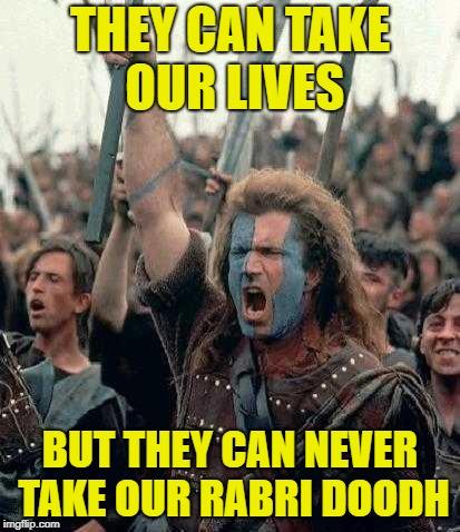 Mel Gibson, Doodh Rabri, BraveHeart