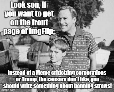 Look Son Meme | Look son, If you want to get on the front page of ImgFlip; Instead of a Meme criticizing corporations or Trump, the censors don't like, you  | image tagged in memes,look son | made w/ Imgflip meme maker