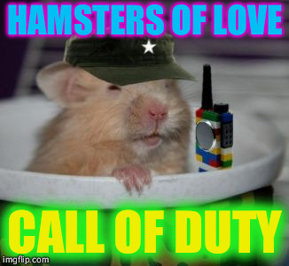 When you get the call... | HAMSTERS OF LOVE CALL OF DUTY | image tagged in call of duty,hamsters of love,immabot,calling all hamsters | made w/ Imgflip meme maker