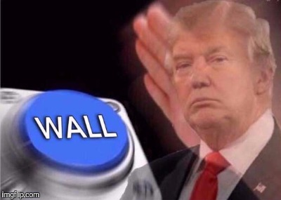 Trump wall button  | A | image tagged in trump wall button | made w/ Imgflip meme maker